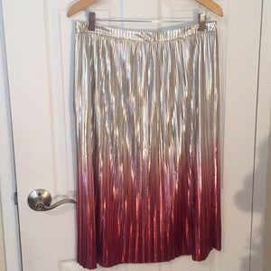 Anthropologie Metallic skirt
